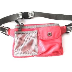 BZEES Pink and Gray Small Fanny pack Waist Bag Bum